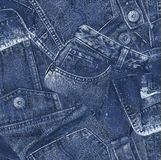 Denim material, Royalty Free Stock Photos