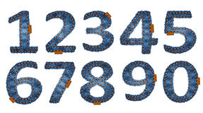 Denim mathematics Royalty Free Stock Photography