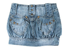 Denim mini skirt Royalty Free Stock Images