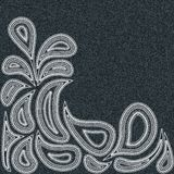Denim paisley black Royalty Free Stock Images