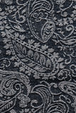 Denim paisley fabric texture background Royalty Free Stock Images