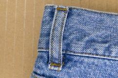 Denim pants close up Stock Photos
