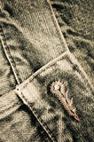 Denim pants close up Stock Images