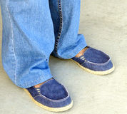 Denim pants and shoes. Royalty Free Stock Image