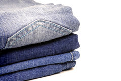 Denim Pants Stacked Stock Photos