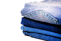 Denim Pants Stacked Stock Photography