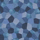 Denim pattern collage seamless texture Stock Images