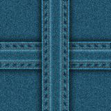 Denim pattern is divided into four zones. Stock Photos