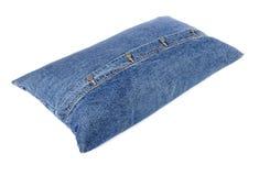 Denim Pillow Royalty Free Stock Images