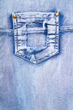 Denim with a pocket Royalty Free Stock Images