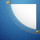 Denim pocket and blank paper Royalty Free Stock Photos