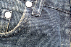 Denim Pocket Closeup, texture background of jeans and pockets Royalty Free Stock Images