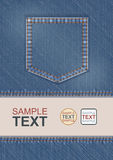 Denim Pocket Flyer Royalty Free Stock Photos