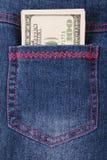 Denim Pocket full of Money Stock Photography