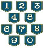 Denim Pocket Numbers Royalty Free Stock Photos