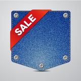 Denim pocket vector sale Royalty Free Stock Images
