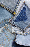 Denim pockets Stock Photos