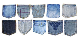 Denim pockets Royalty Free Stock Photos