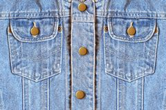 Denim pockets Stock Photo
