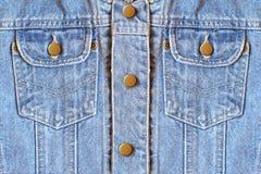 Denim pockets. Jeans Stock Photo