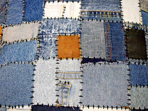 Denim rags background Stock Photo