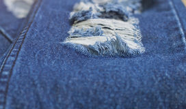 Denim Rip Royalty Free Stock Photos