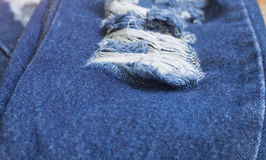 Denim Rip Background. Texture in the Fabric Royalty Free Stock Image