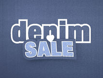 Denim Sale Banner Stock Image