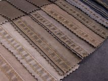 denim samples textiltextur Arkivbild
