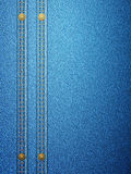 Denim with seam vertical Stock Photography