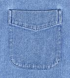 Denim Shirt Pocket. Closeup of denim shirt pocket Royalty Free Stock Photography