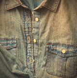 Denim shirt with a pocket Royalty Free Stock Image