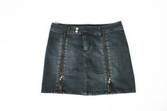Denim short skirt, Stock Image