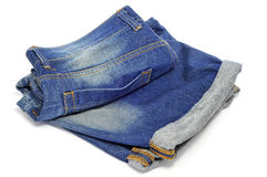 Denim shorts Royalty Free Stock Images