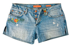 Denim Shorts Stock Image