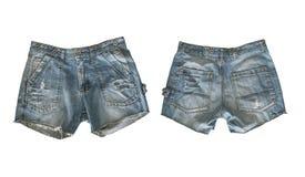 Denim shorts for female stock images