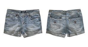 Free Denim Shorts For Female Isolated On White Stock Photography - 152741532