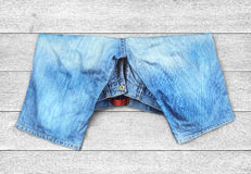 Denim shorts Stock Images