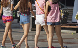 Denim shorts stock images