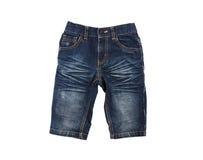 Denim shorts Royalty Free Stock Image