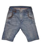 Denim shorts Royalty Free Stock Photos