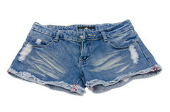 Denim shorts Stock Photo