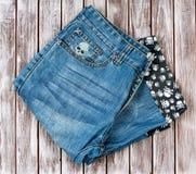 Denim shorts on Royalty Free Stock Image