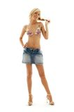 Denim skirt #3 Royalty Free Stock Photos