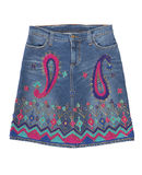 Denim skirt royalty free stock image