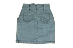 Denim skirt Stock Image