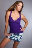 Denim Skirt Woman Royalty Free Stock Image