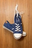 Denim sneakers Stock Image