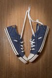 Denim sneakers Royalty Free Stock Photos