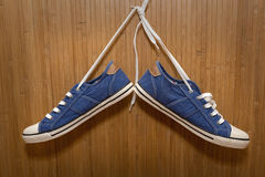 Denim sneakers Royalty Free Stock Photography